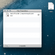 Drag and Drop files to your mini with OS X 10.8.