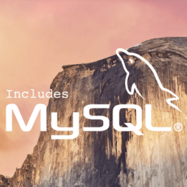 Install MySQL on OS X 10.10 Yosemite.