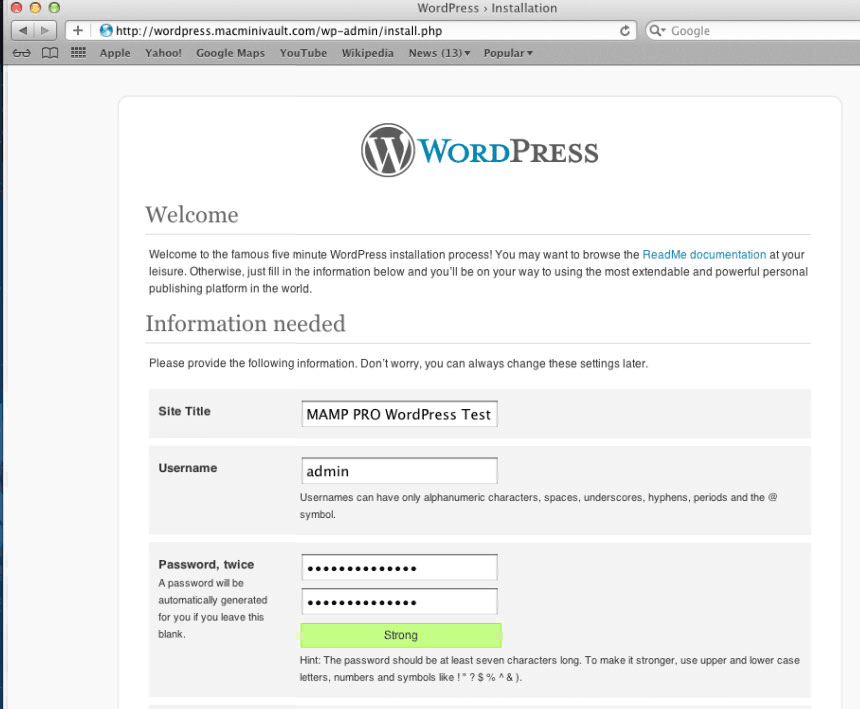 Setup a WordPress site with MAMP PRO  | Mac Mini Vault